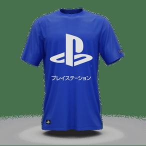 Camiseta Playstation Katakana Azul (GG) Banana Geek