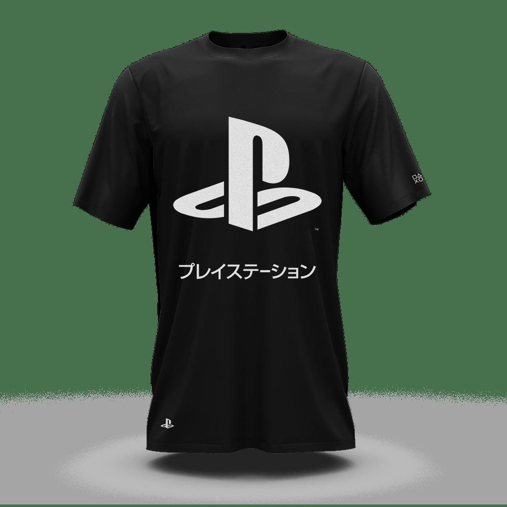 Camiseta Playstation Katakana Preto (M) Banana Geek