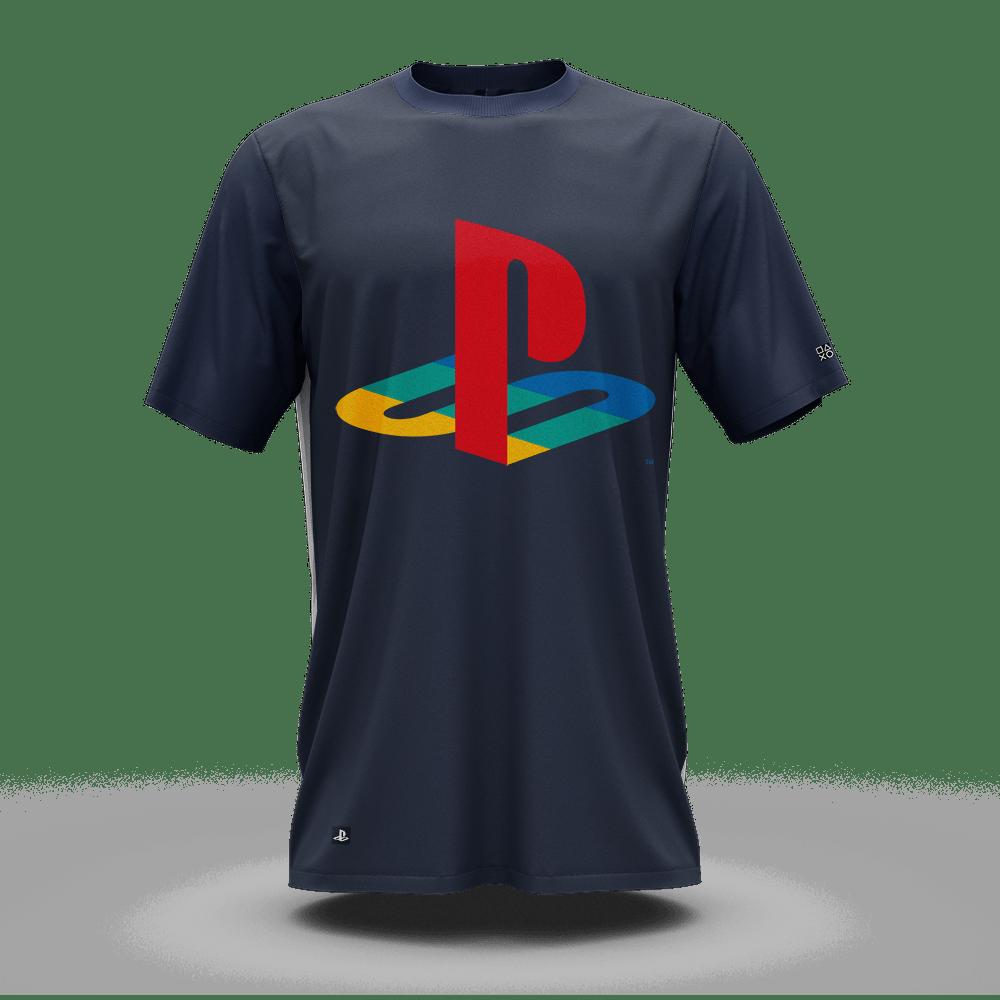 Camiseta Playstation Classic Katakana Color (P) Banana Geek