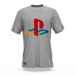 Camiseta Playstation Classic Cinza Claro (G) Banana Geek