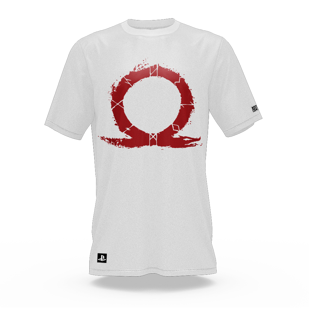 Camiseta God Of War Omega Branco (P) Banana Geek