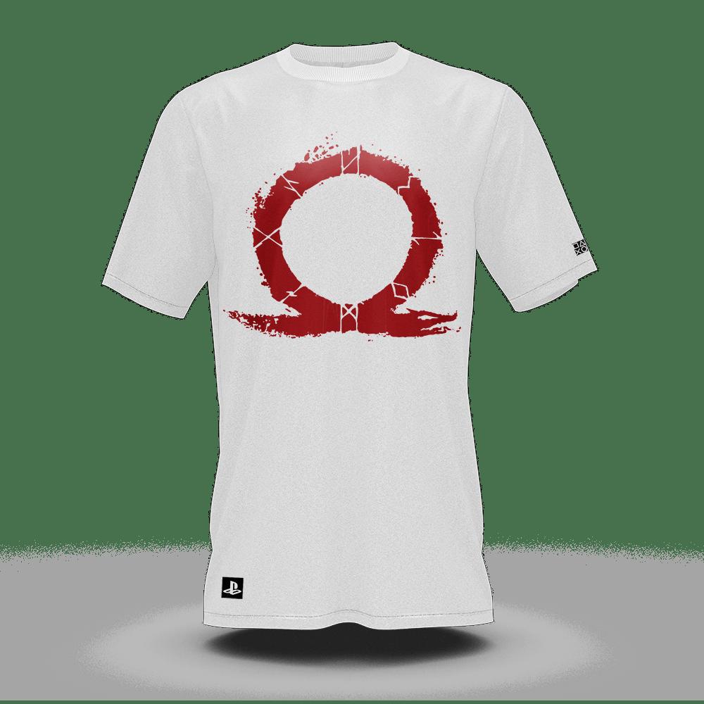 Camiseta God Of War Omega Branco (G) Banana Geek