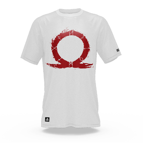 Camiseta God Of War Omega Branco (GG) Banana Geek