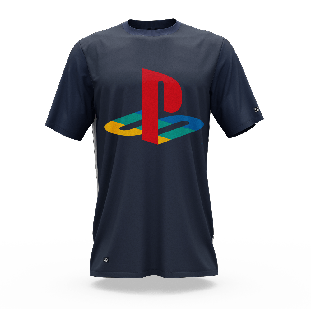 Camiseta Playstation Classic Katakana Color (GG) Banana Geek