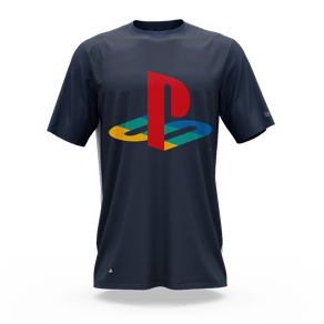 Camiseta Playstation Classic Katakana Color (XG) Banana Geek