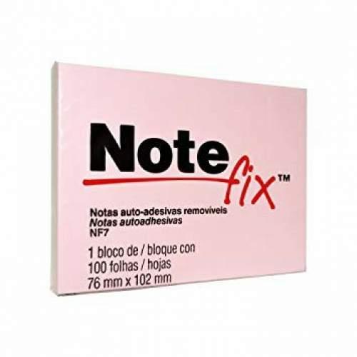 Bloco de Papel 76X102 Grande 100 Folhas Rosa Notefix
