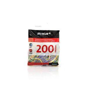 Elastico Especial Colorido com 200 unidades Mercur