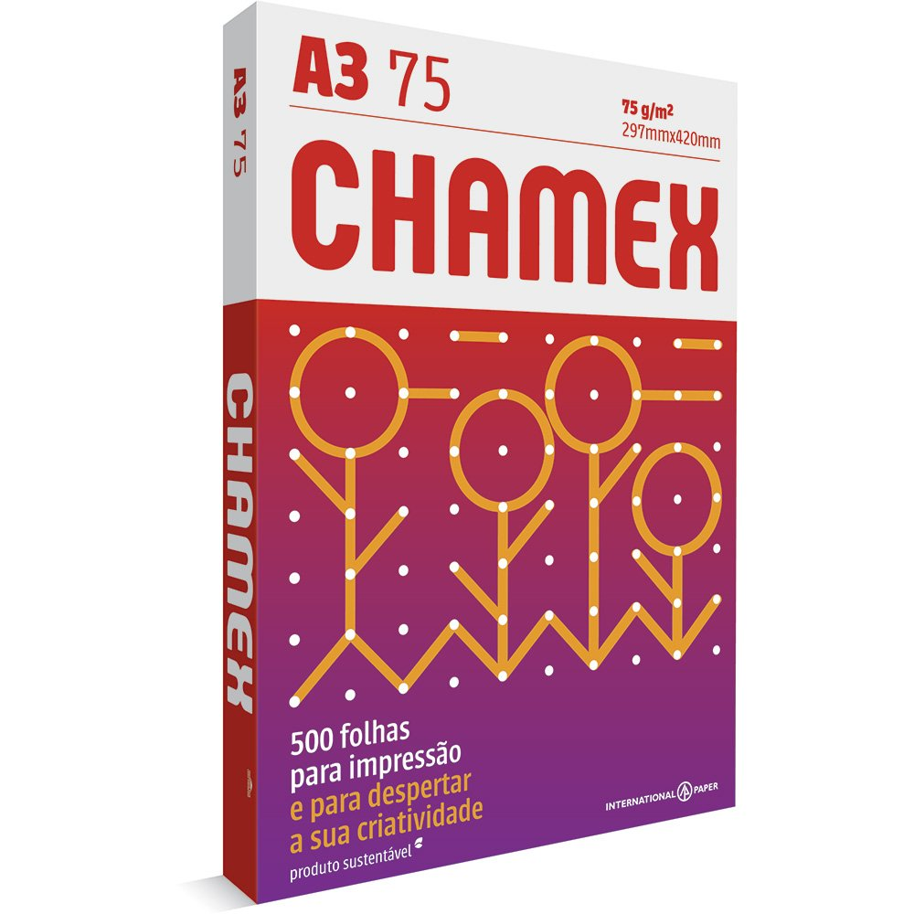 Papel A3 Branco Multi 75g/m com 500 folhas Chamex