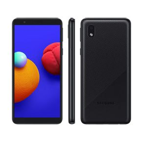 "Smartphone Galaxy A01 Core Dual 4G Android 10 32GB Cam 8MP+Camera Frontal 5MP Quad-Core Tela Infinita 5.3"" Preto Samsung"