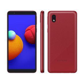 "Smartphone Galaxy A01 Core Dual 4G Android 10 32GB Cam 8MP+Camera Frontal 5MP Quad-Core Tela Infinita 5.3"" Vermelho Samsung"