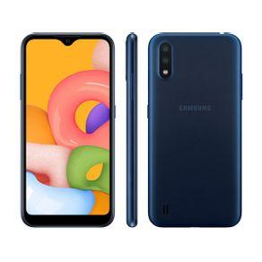 Smartphone Galaxy A01 Dual 4G Android 10 32GB Cam 13MP+2MP+Camera Frontal 5MP Octa-Core Tela Infinita 5.7