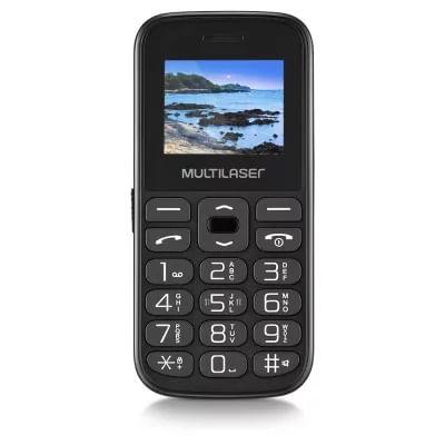 "Celular Vita Dual Chip P9120 MP3 Camera Bluetooth 32MB Tela 1.8"" Preto Multilaser"