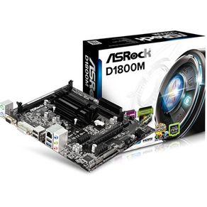 Placa Mãe Micro ATX D1800M Asrock com processador Celeron Dual Core J1800 Placa M�e Micro ATX D1800M Asrock com processador Celeron Dual Core J1800