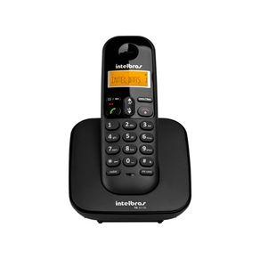 Telefone sem fio com identificador de chamadas TS 3110 Preto Intelbras