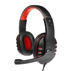 Fone de ouvido Headset com fio Dynamic 63 ARG-HS-0063 Preto/Vermelho Argom
