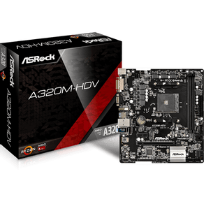 Placa Mãe Micro ATX Para AMD Am4 A320M-HDV ASRock
