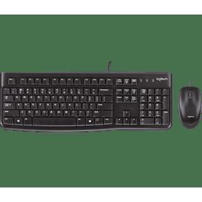 Kit Teclado e Mouse USB MK120 Preto Logitech