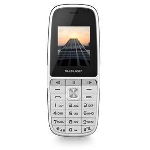"""Celular UP Play Dual MP3 com radio FM e camera Tela 1.8"""" Branco Multilaser"""