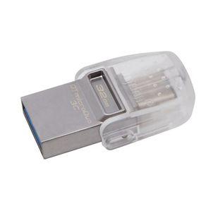Pen Drive DataTraveler USB 3.1 DTDUO3C/32GB 32GB USB-C Cinza Kingston