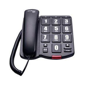 Telefone de mesa com fio Tok Fácil Preto Intelbras Telefone de mesa com fio Tok F�cil Preto Intelbras