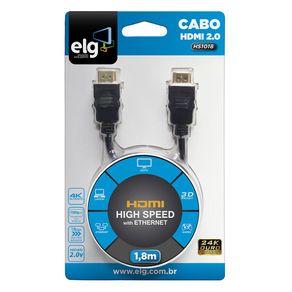 Cabo Video HDMI 1.8M Preto ELG