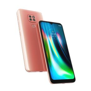"Smartphone Moto G 9 Play Dual 4G Android 10 64GB Cam Tripla 48MP+2MP+2MP Cam Frontal 8MP Octa-Core Tela 6,5"" Rosa Quartzo Motorola"