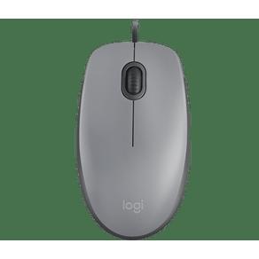 Mouse Optico USB M110 Silent Cinza Logitech