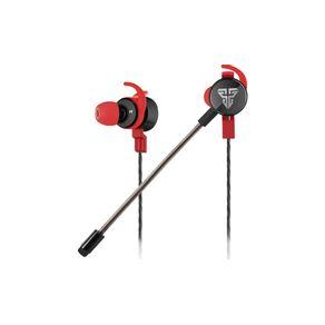 Headset Gamer Intra-Auricular Gamer Scar EG2 com microfone destacavel Preto/Vermelho - Fantech