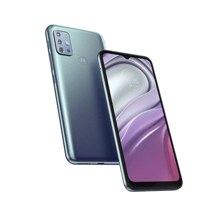 "Smartphone Moto G20 Android 11 64GB Cam 48MP+8MP+2MP+2MP Cam Frontal 13MP Octa-Core Tela 6,5"" Azul Motorola"