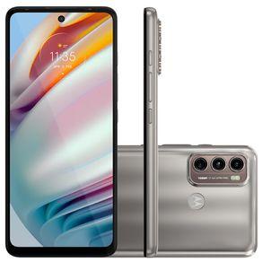 """Smartphone Moto G60 Android 11 128GB Cam Tripla 108MP+8MP+2MP Cam Frontal 32MP Octa-Core Tela 6,8"""" Champagne Motorola"""
