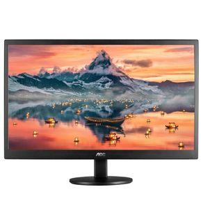 """Monitor LED 18.5"""" HD HDMI Widescreen E970SWHNL Preto AOC"""