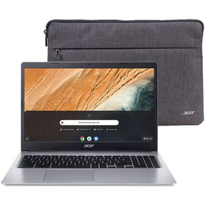 "Notebook Chromebook 315 Intel Celeron N4000 1.1GHZ 4GB 32GB MMC 15.6"" LED HD Windows 10 Prata Acer"