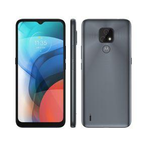 "Smartphone Moto E7 Dual 4G Android 10 32GB Cam Dupla 48MP+2MP Cam frontal 5MP Octa-Core Tela 6,5"" Cinza Motorola"