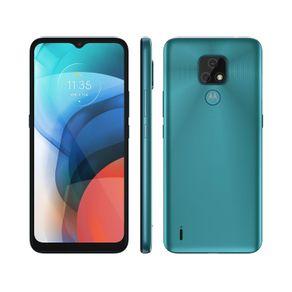 "Smartphone Moto E7 Dual 4G Android 10 32GB Cam Dupla 48MP+2MP Cam frontal 5MP Octa-Core Tela 6,5"" Azul Motorola"