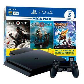 Console PlayStation 4 Slim 1TB Mega Pack V18 - Sony