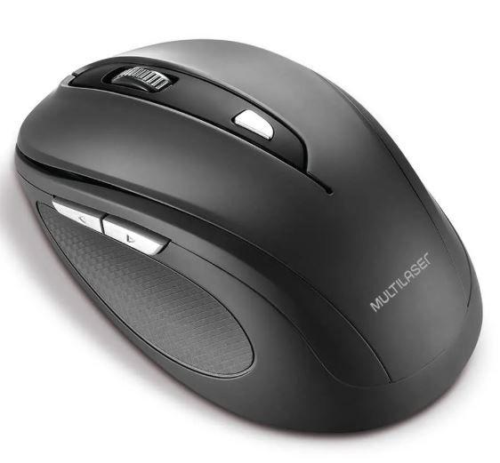 Mouse Sem Fio Comfort MO237 Preto Multilaser