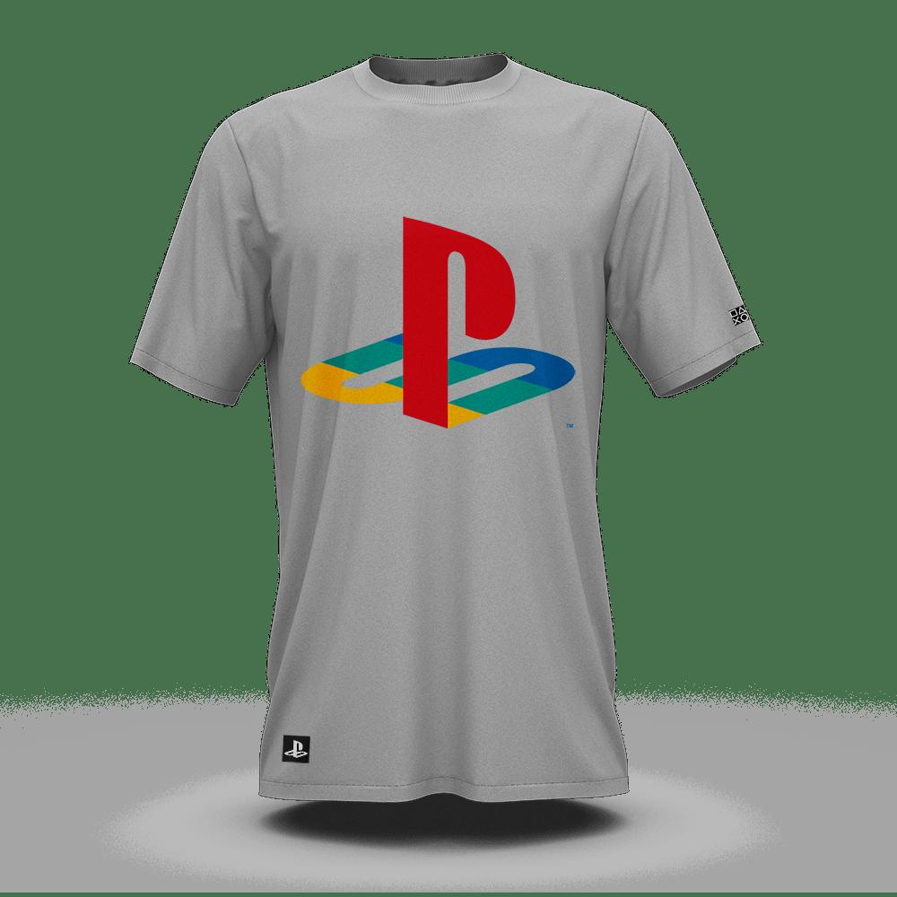 Camiseta Playstation Classic Cinza Claro (GG) Banana Geek