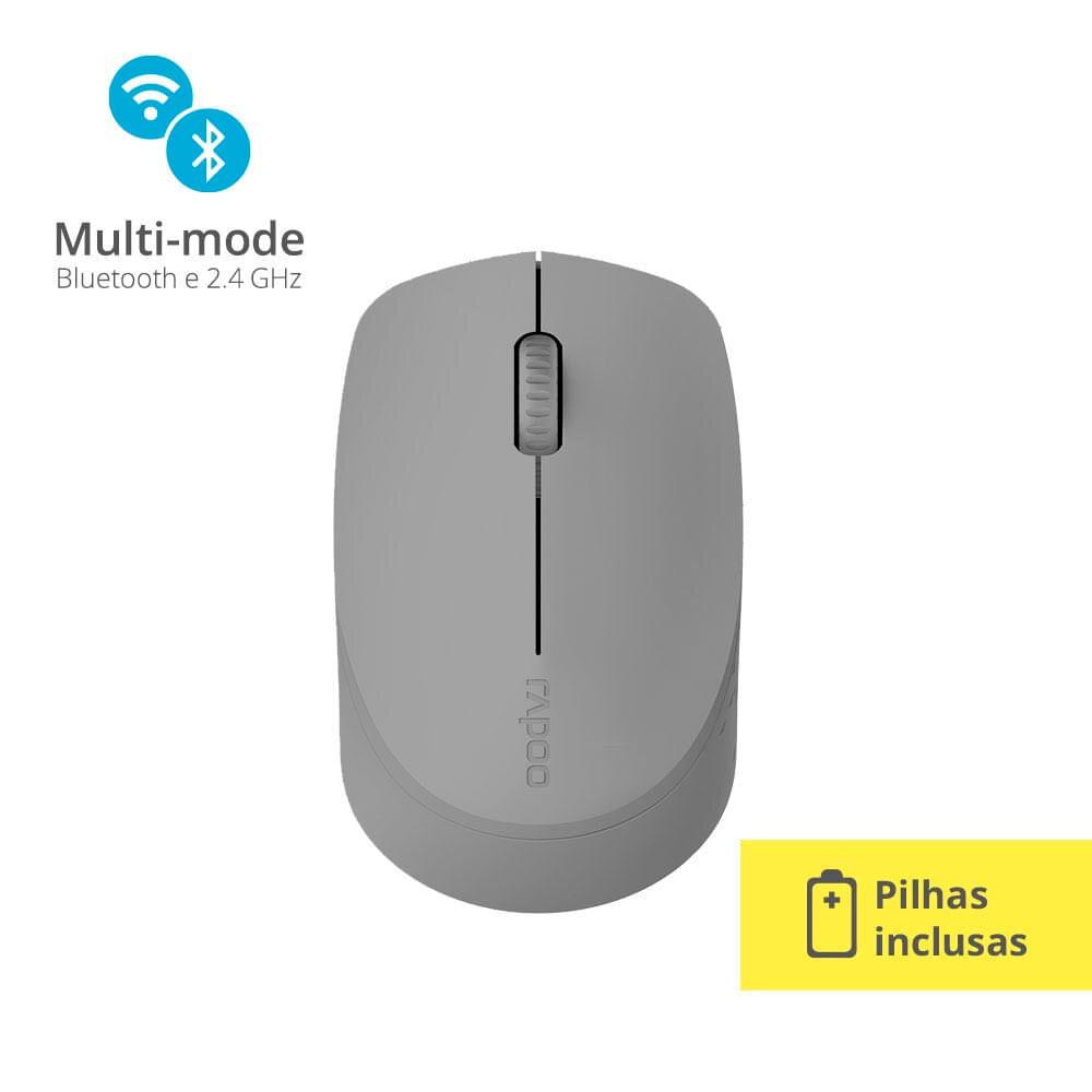 Mouse Bluetooth/Wireless M100 1300DPI Cinza Rapoo