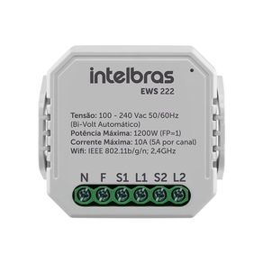 Dispositivo Inteligente Smart Interruptor Controlador de Cargas WiFi EWS 222 Intelbras
