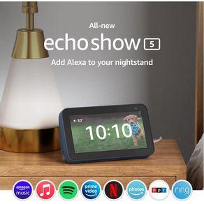 Dispositivo Smart Home Echo Show 5 Alexa 2021 Azul Amazon