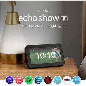 Dispositivo Smart Home Echo Show 5 Alexa 2021 Preto Amazon
