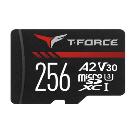Cartao de Memoria MicroSD XC  256GB com Leitor 2A Gaming T-Force