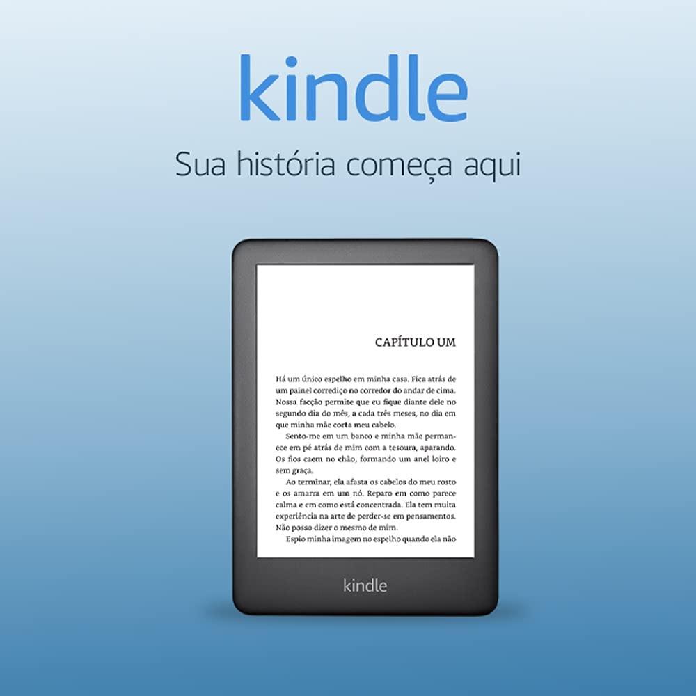 "Leitor Digital Kindle 10� Geracao 6"" Wifi 8GB Branco Amazon"