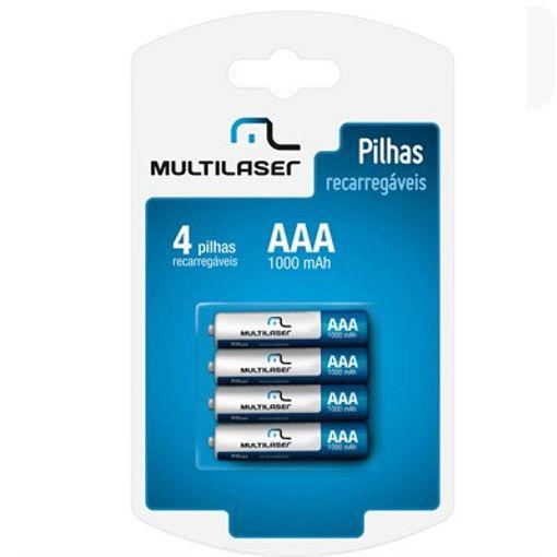 Pilha Recarregavel  AAA com 4 Unidades 1000mAh  CB050 Multilaser