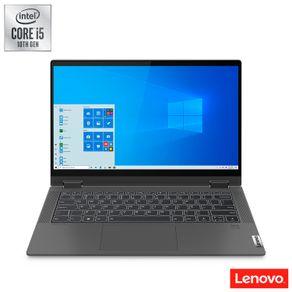 "Notebook Ideapad  Flex 5i 2 em 1 Intel Core  i5-1035GU 1.0GHZ 8GB 256 SSD M.2 14"" Led HD Windows 10 Home Grafite Lenovo"