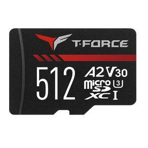Cartao de Memoria com Leitor 2A MicroSD XC 512GB  Gaming T-Force
