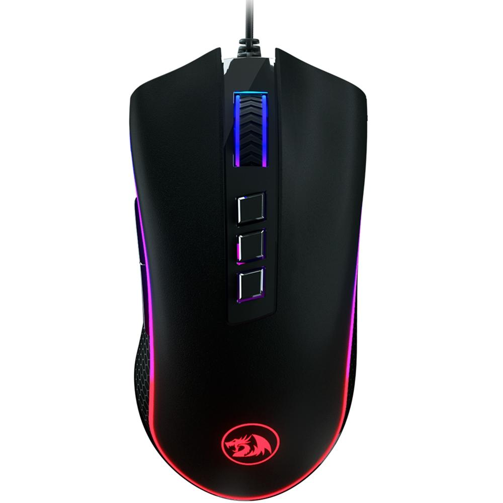 Mouse Gamer USB King Cobra RGB Preto - Redragon