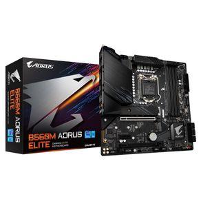 Placa Mae Micro ATX para Intel 11/10G LGA 1200 B650 AORUS ELITE Gigabyte