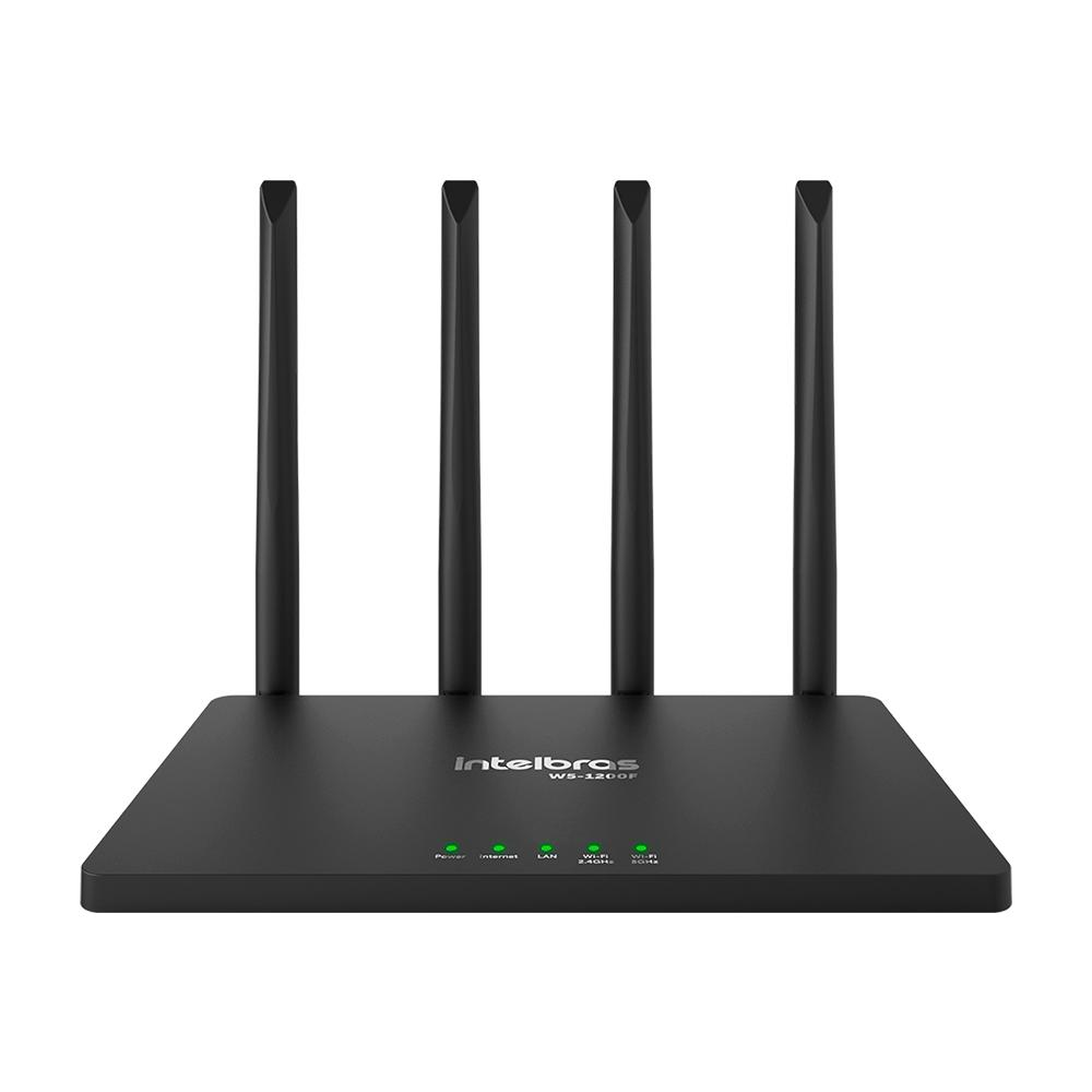 Roteador Wireless AC 1200Mbps Dual Band Wi-Force W5-1200F - Intelbras