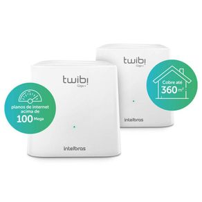 Kit Roteador Wireless AC 1200Mbps Dual Band Sistema Mesh Twibi Giga + - Intelbras